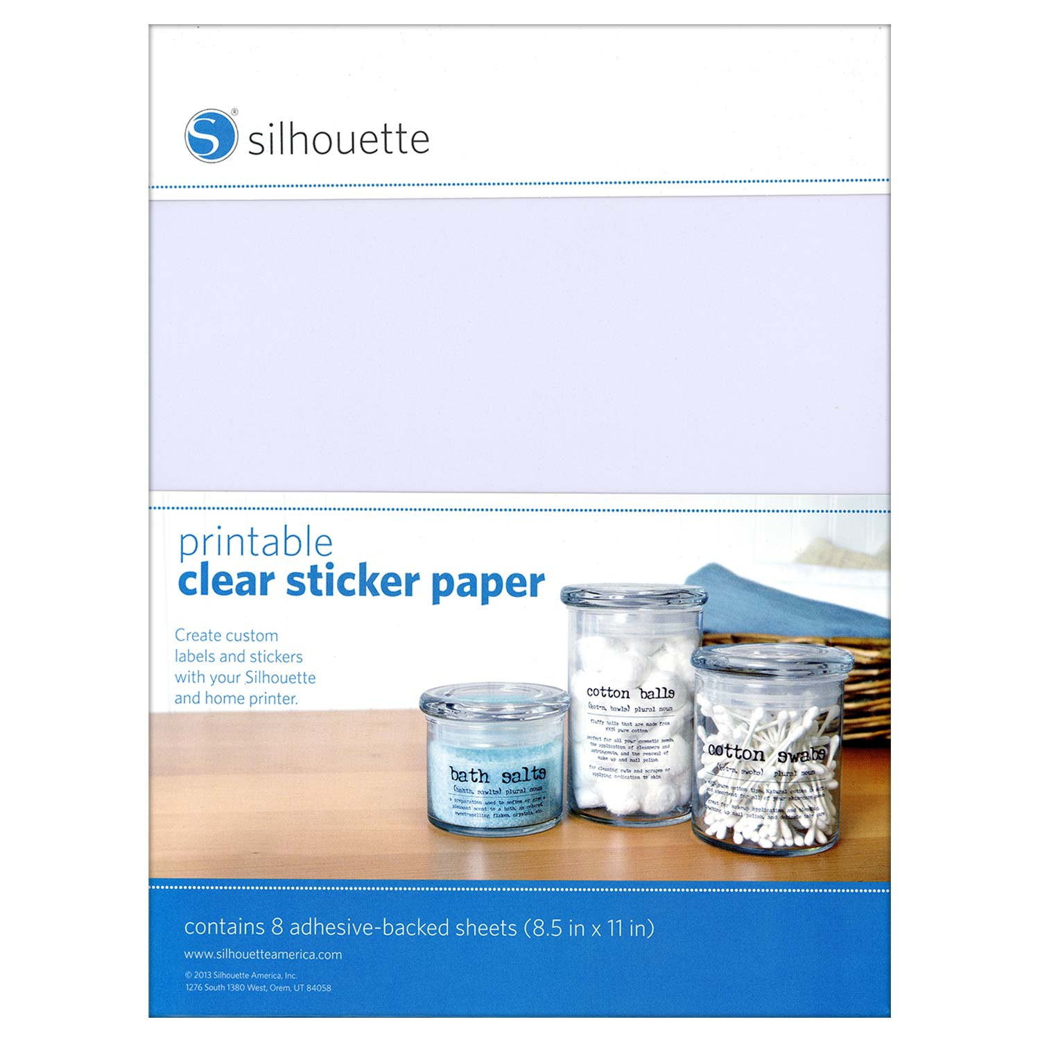 Lucrative image throughout clear printable paper